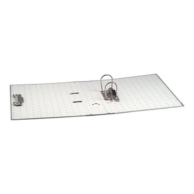 Classeur à levier Exacomptaen carton - avec perforateur - dos 7 cm - format 32 x 29 cm - gris