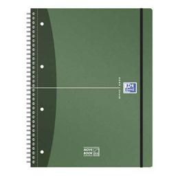 Cahier Oxford spiralé MoveBook - A4+ - 160 pages non perforées - 5x5 - pochette coin - fermeture élastique