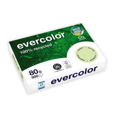Papier couleur recyclé Evercolor - vert clair - 80 g - A4 - ramette de 500 feuilles