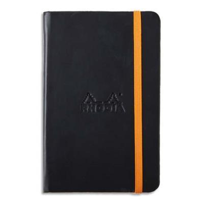 Carnet RHODIArama - 9x14cm - 192 pages lignées - couverture rembordée noire