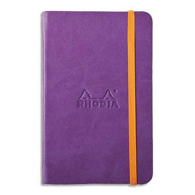 Carnet RHODIArama - 9x14cm - 192 pages lignées - couverture rembordée violet