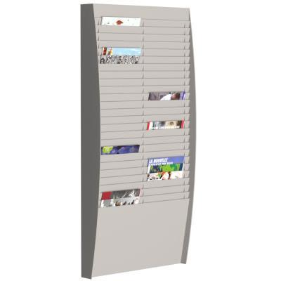 Trieur mural vertical Paperflow - 50 cases - A4 - gris