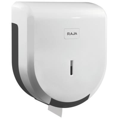 Distributeur de rouleaux de papier toilette géants - plastique ABS - verrou - blanc - 275 x 245 x 120 mm