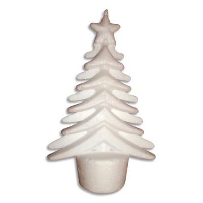 20 arbres de Noël originaux à décorer en styropor de 14x9cm. Un socle permet de le faire tenir debout. (photo)