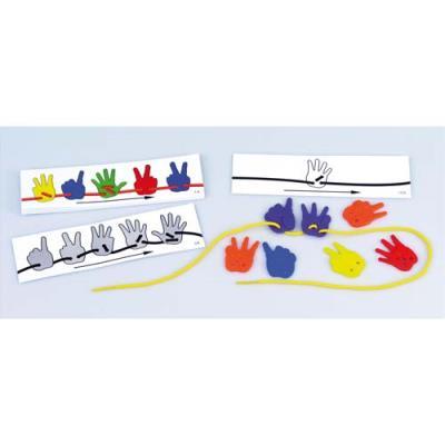 Lot de 16 fiches pédagogiques ' mains à lacer '- Exercices progressifs (photo)