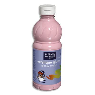 Peinture acrylique Glossy 500ml rose bonbon