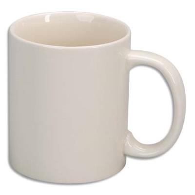 Lot de 6 mugs en céramique émaillée de haute qualité. A décorer (photo)