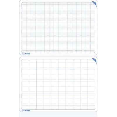 Ardoise pédagogique, 34 X 24cm, Polypro : 12/10ème, effaçable, recto double ligne verso seyes agrandi (photo)