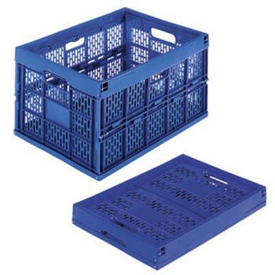Caisse de rangement pliable en polypropylène bleu 60 L 395 x 595 x 320 mm