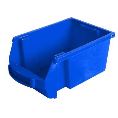 Bac à bec en plastique - 1 L - porte étiquette - polypropylène bleu - L 10 x H 7 x P 16 cm