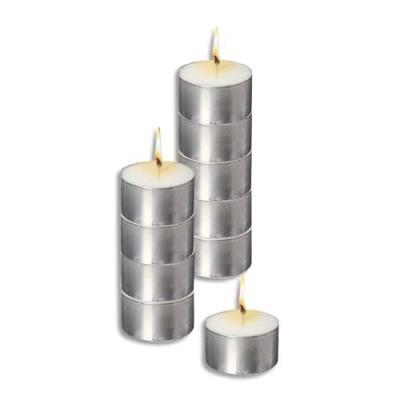 Sachet de 10 bougies chauffe plat blanche longue durée (photo)