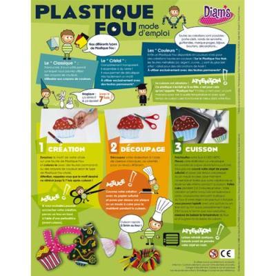 Sachet 30 feuilles plastique Fou A4 assorties cristal transparent jaune rouge vert noir