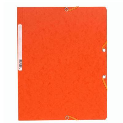Chemise Exacompta Nature Future A4 à fermeture élastique sans rabat - 250 feuilles - 240 x 320 mm - carte - orange