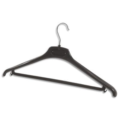 Cintre en plastique ALBA - noir - lot de 20 (photo)