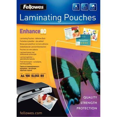 Pochettes Fellowes - A3 - 80 microns - dos adhésif - boîte de 100