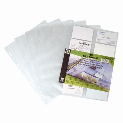 10 pochette cartes de visite pour reliure Visifix de Durable