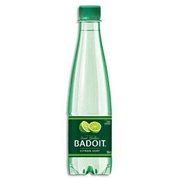 Bouteille eau gazeuze Badoit citron vert - 50 cl (photo)