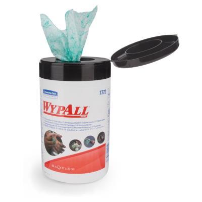 Lingettes nettoyantes boîte refermable portable 90 feuilles par boîte recharge dévidage central vert 270 x 270 mm - paquet 90 feuilles