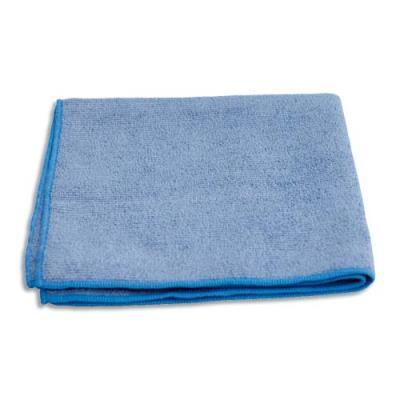 Chiffon microfibres tout usage - 40 x 40 cm - bleu - paquet de 10 (photo)