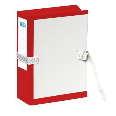 Pochette archives à soufflet - dos 10 cm - rouge