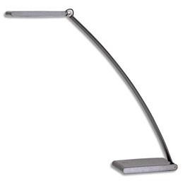 Lampe LED tactile Led Touch - gmétal et aluminium - socle 20x8cm - bras 55cm - tête 17x5cm