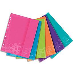 Pochettes perforées Leitz Wow - polypropylène - A4 - coloris assortis - sachet de 6