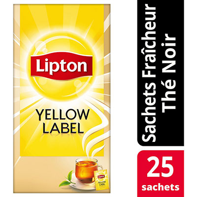 Thé Lipton Yellow - Boîte de 25 sachets (photo)