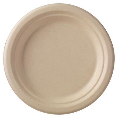 Ecoecho dîner assiette recyclable écru 50 x 18 cm - paquet 50 unités (photo)