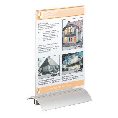 Présentoir de table Durable - pour format A5 - 150 x 237 x 85 mm (L x H x P)
