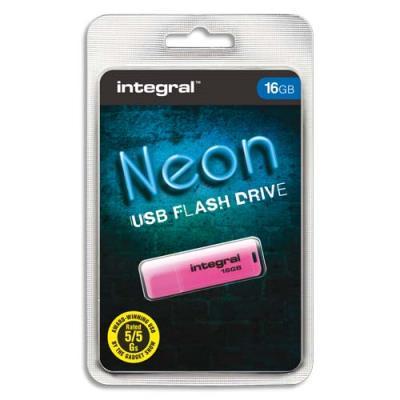 Clé USB 2.0 Integral NEON - 16 Go - Rose (photo)