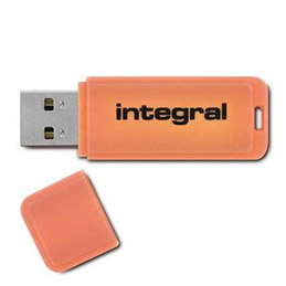 Clé USB 2.0 Integral NEON - 16 Go - Orange (photo)