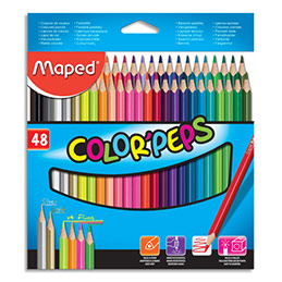 Crayons de couleur Maped Color'Peps - pochette de 48 (photo)