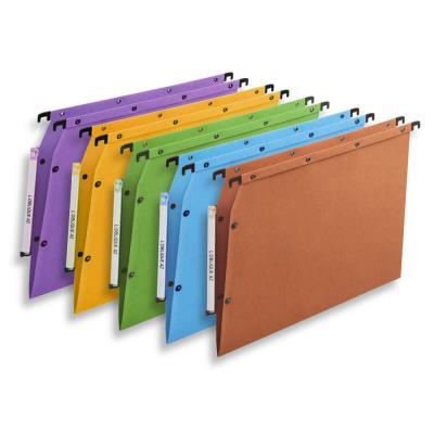Dossiers suspendus AZV en carte Canson coloris assortis - pour armoire - fond V