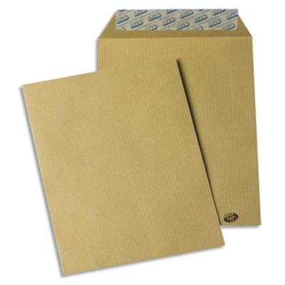 Pochettes kraft brun - auto-adhésives - 85g - format C5 - 162 x 229 mm - paquet de 50