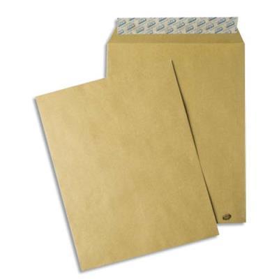 Pochettes kraft brun - auto-adhésives - 85g - format C4 229 x 324 mm - paquet de 50