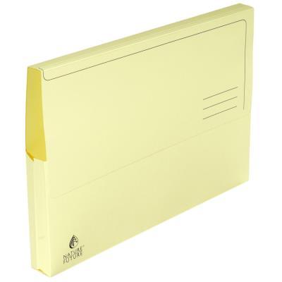 Chemise-pochette Exacompta - carte Jura 220g - jaune - paquet 10 unités