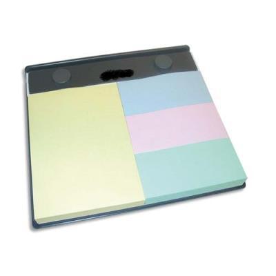 Support rechargeable - format A6 - vendu avec 1bloc 102x75mm et 3 blocs 34x75mm - coloris pastels