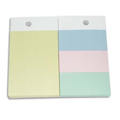 Recharges pour support format A6 - 1 bloc 102x75mm et 3 blocs 34x75mm - coloris pastels
