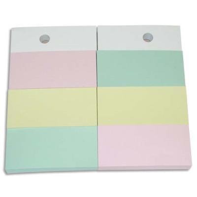 Recharges pour support format A6 - 6 blocs 34x75 mm - couleurs pastels