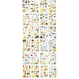 1692 gommettes Maildor Mimistick assorties (photo)