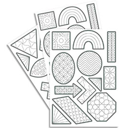 240 gommettes Maildor Tocolor géométriques à colorier (photo)