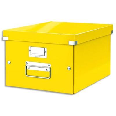 Boîte Leitz Click & Store Taille M - format A4 - capacité 17L - orange