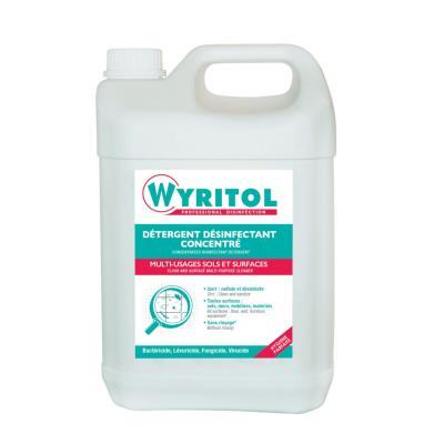 Bidon de détergent sols et surfaces - liquide désinfectant concentré - parfum frais léger - 5 L (photo)