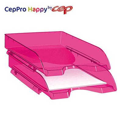 Corbeille à courrier Cep Pro Happy - Rose Indien