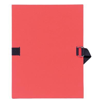 Chemise à dos extensible avec sangle - format 24 x 32 - qualité toilée - Coloris Rouge