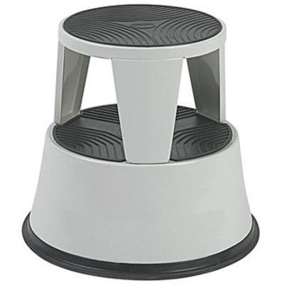 Marchepied tabouret métal - gris clair (photo)
