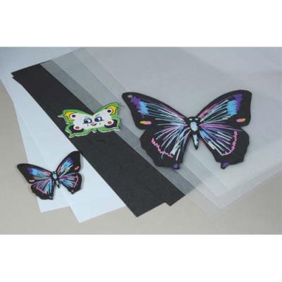 Pochette de 30 feuilles A4 de plastique fou, 20 transparentes, 5 blanches, 5 noires