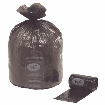 Sacs poubelle NF 100 L noir - carton de 250 sacs