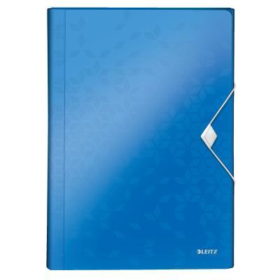 Trieur valisette Esselte Wow en polypropylène - 6 compartiments A4 extensibles - bleu