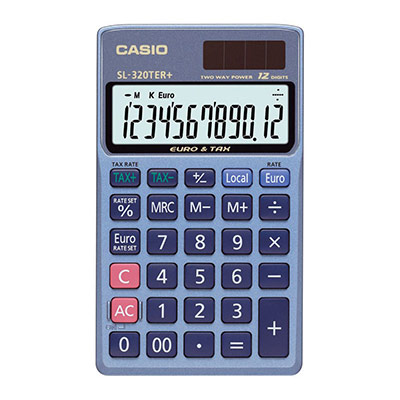 Calculatrice de bureau - SL320TER - 12 chiffres (photo)
